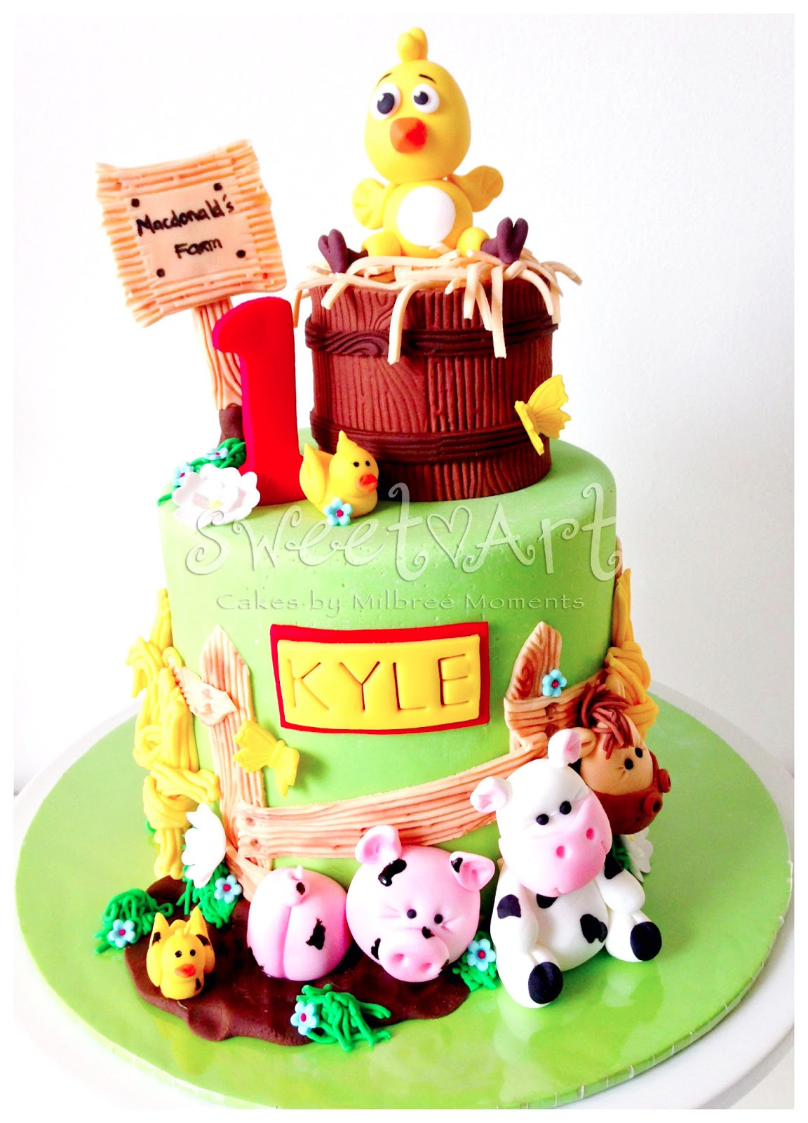 Animals Birthday Cake  Sweet Art Cakes by Milbreé Moments Kyle s Farm Animals