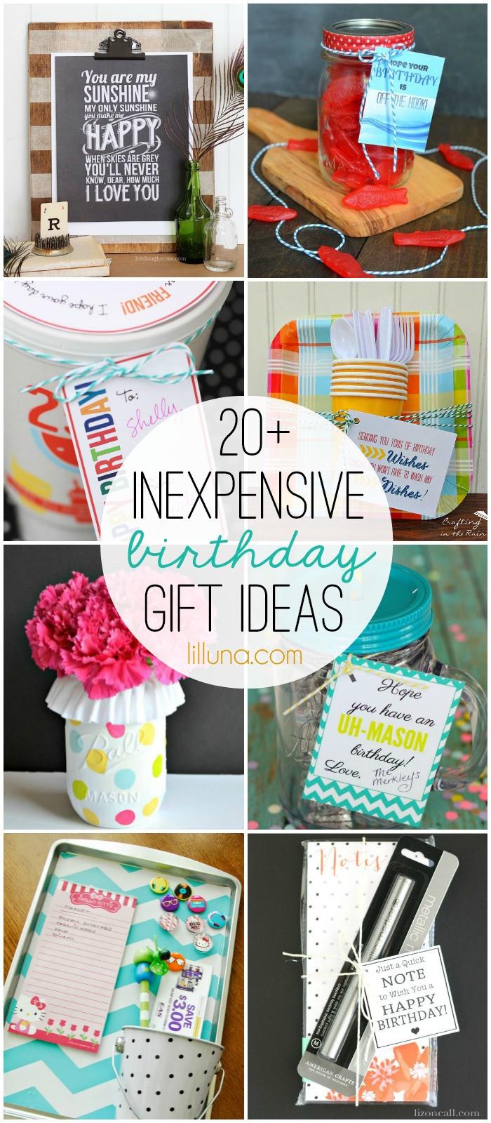 Birthday Present Ideas  Inexpensive Birthday Gift Ideas