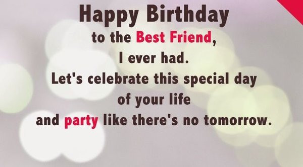 Birthday Wishes For Best Friend  50 Best Birthday Wishes for Friend with 2019