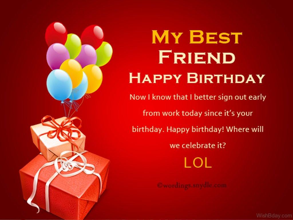 Birthday Wishes For Best Friend  23 Birthday Wishes For Best Friend