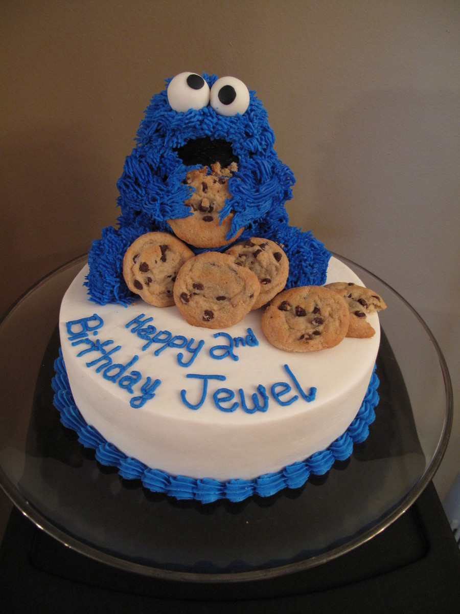 Cookie Monster Birthday Cake  Cookie Monster Cake CakeCentral