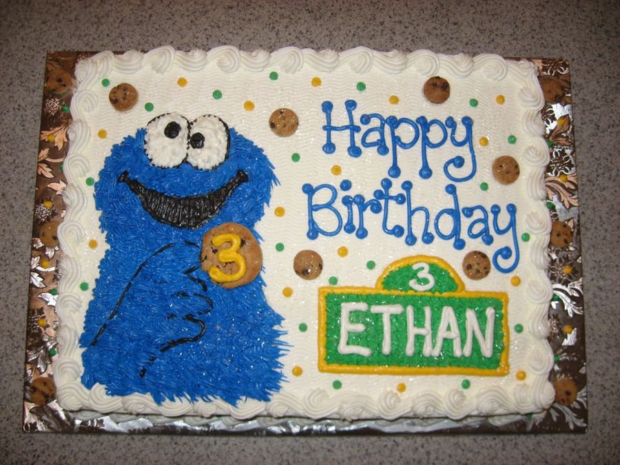 Cookie Monster Birthday Cake  Cookie Monster Birthday Cake CakeCentral