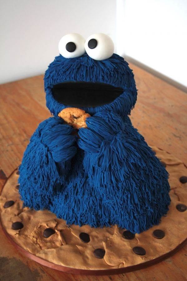 Cookie Monster Birthday Cake  cookie monster birthday cakes