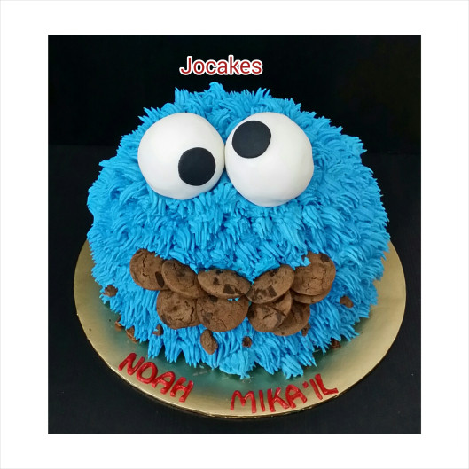 Cookie Monster Birthday Cake  cookie monster cake