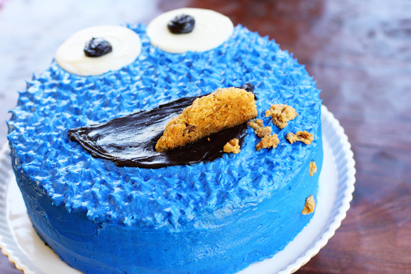 Cookie Monster Birthday Cake  a Cookie Monster birthday cake