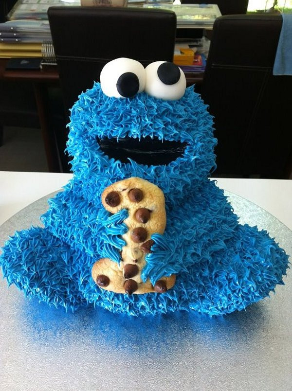 Cookie Monster Birthday Cake  cookie monster cake for 1st birthday Daily Picks and Flicks