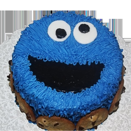 Cookie Monster Birthday Cake  Cookie Monster Cake Sesame Street Themed Birthday Party