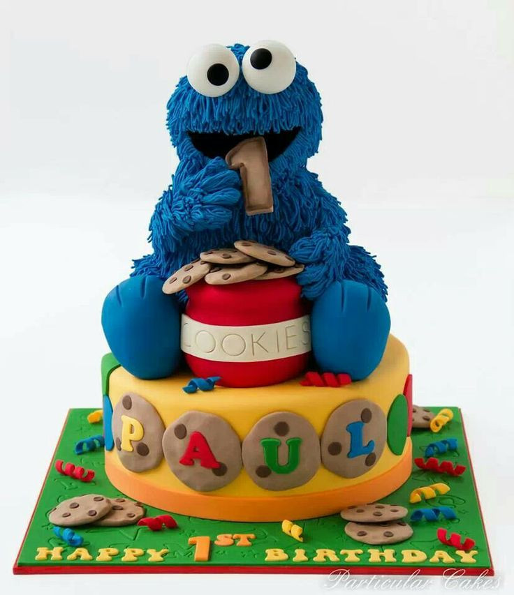Cookie Monster Birthday Cake  17 Best images about Cakes Elmo & Sesame Street on