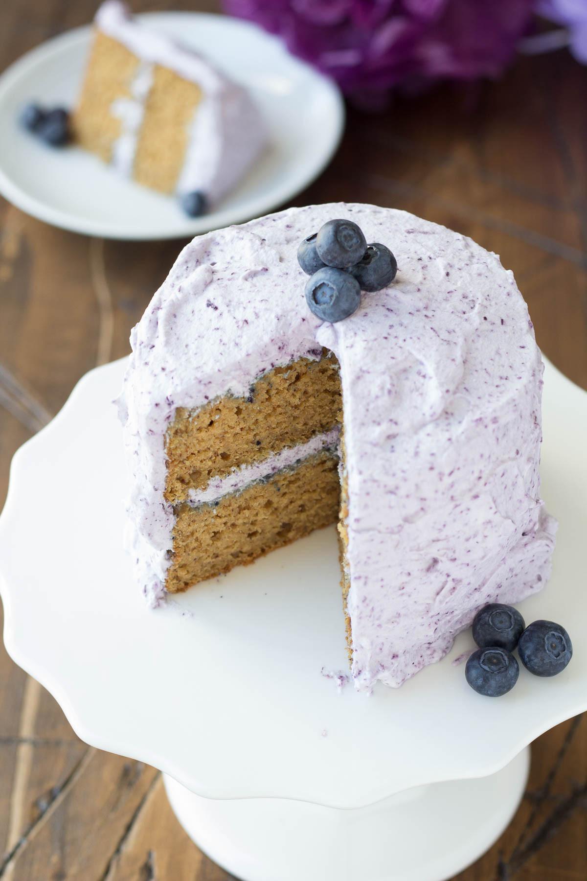 Healthy Birthday Cake Recipes  Healthier Smash Cake Recipe Hannah s Purple Polka Dot 1st
