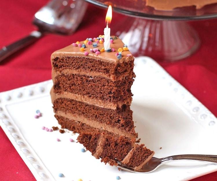 Healthy Birthday Cake Recipes  Healthy Chocolate Birthday Cake with Chocolate Frosting GF