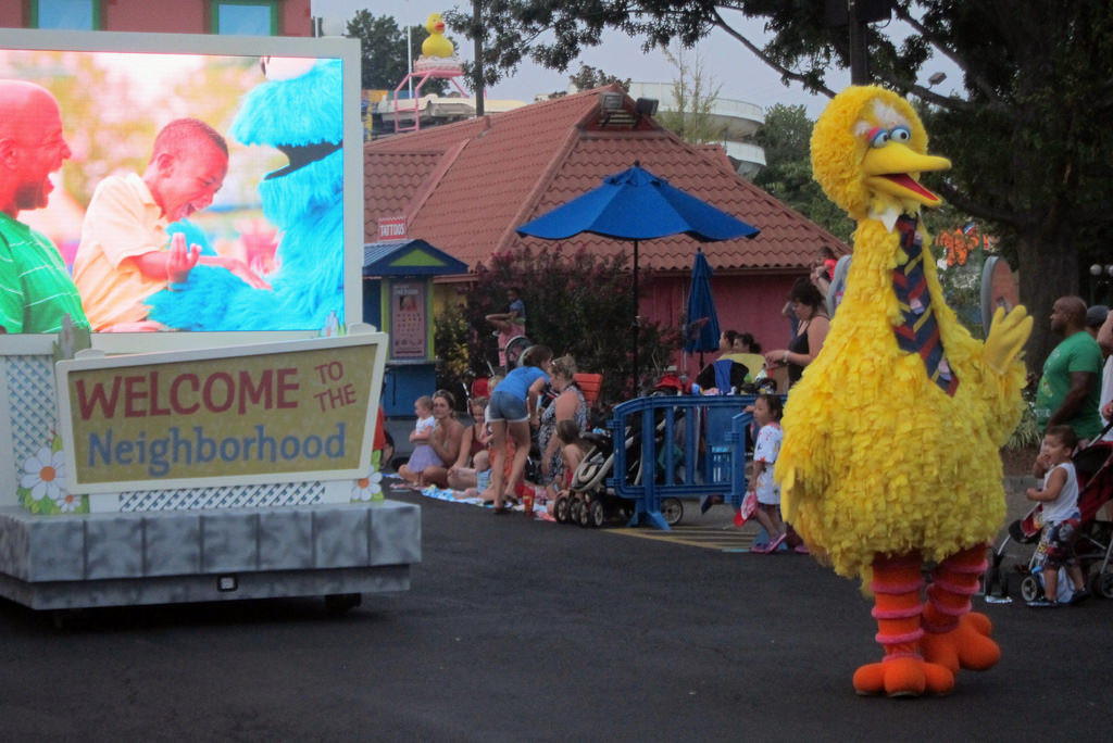 Sesame Place Birthday Party  Sesame Place Neighborhood Birthday Party Night Parade