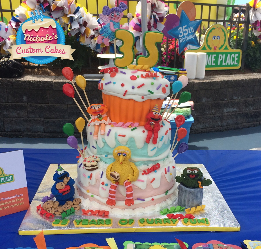 Sesame Place Birthday Party  Sesame Place 35Th Birthday Cake CakeCentral