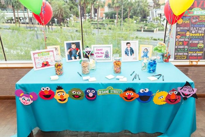 Sesame Place Birthday Party  Kara s Party Ideas Birthday Party at Sesame Street
