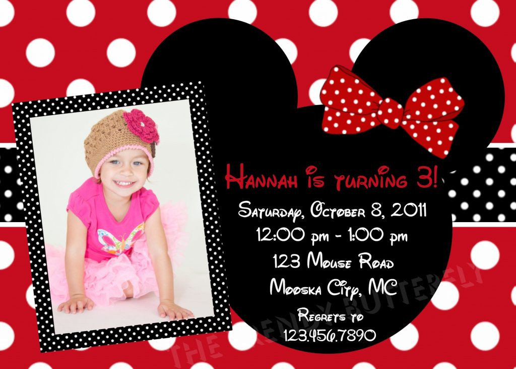 Walmart Photo Birthday Invitations  Minnie Mouse Birthday Invitations Walmart – Birthday