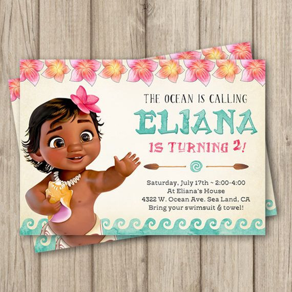 Walmart Photo Birthday Invitations  Unique Moana Birthday Invitations Walmart Birthday