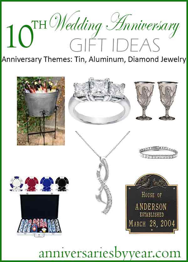 Best ideas about 10 Year Wedding Anniversary Gift Ideas . Save or Pin 10th Anniversary Tenth Wedding Anniversary Gift Ideas Now.
