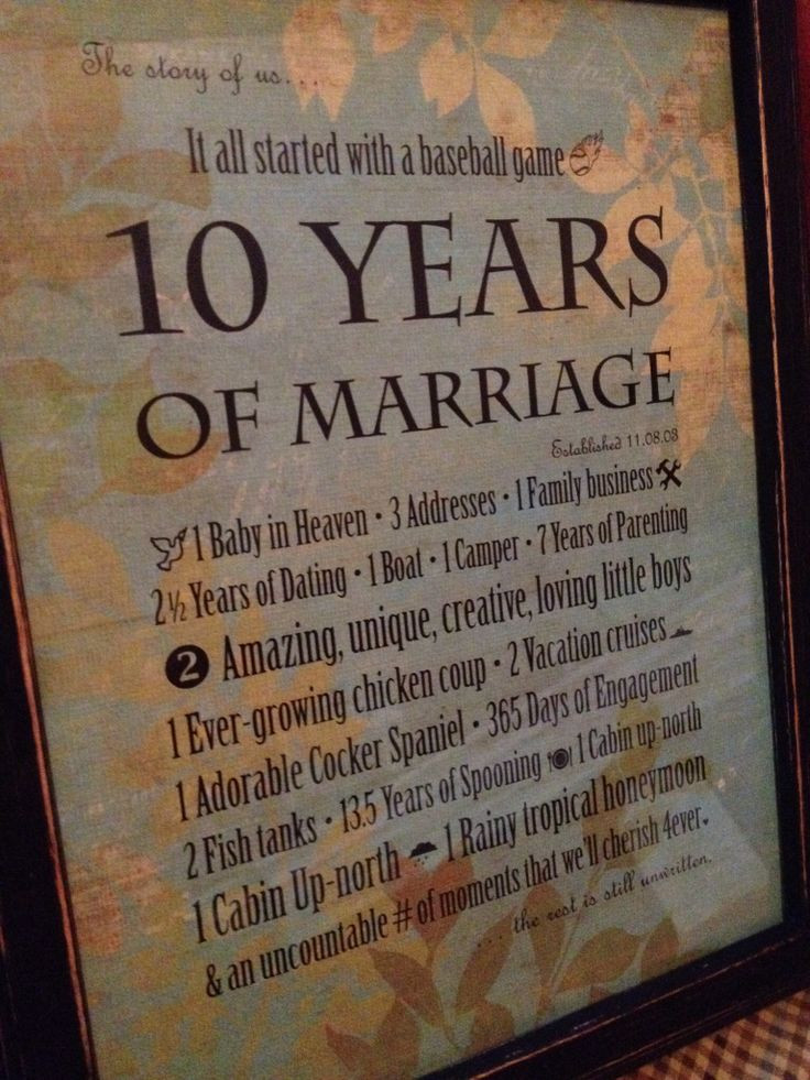 Best ideas about 10 Year Wedding Anniversary Gift Ideas . Save or Pin 10th Wedding Anniversary present that I made for my Big Now.