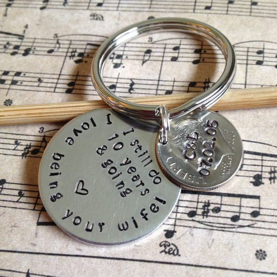 Best ideas about 10Th Anniversary Gift Ideas For Couples . Save or Pin I Still Do Personalized 10 Year Anniversary Keychain Now.