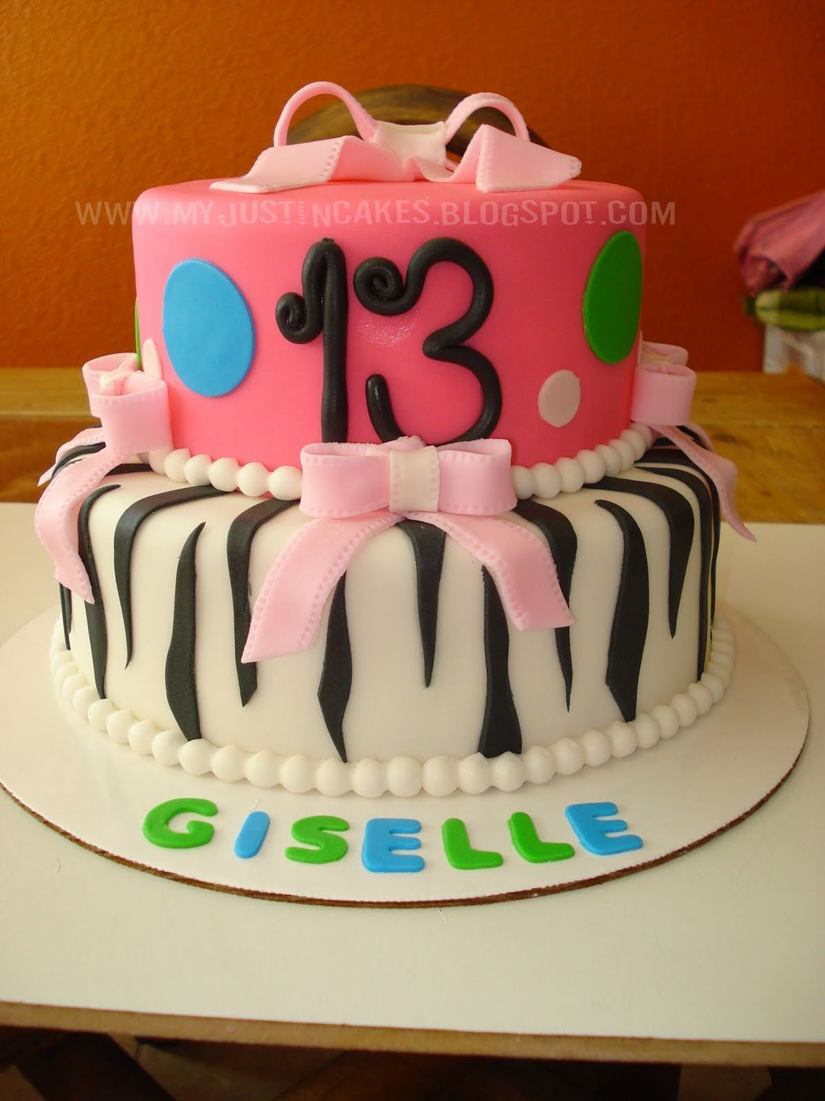 13 Years Old Birthday Cake  Just in Cakes 13 Year Old Girl Birthday Cake