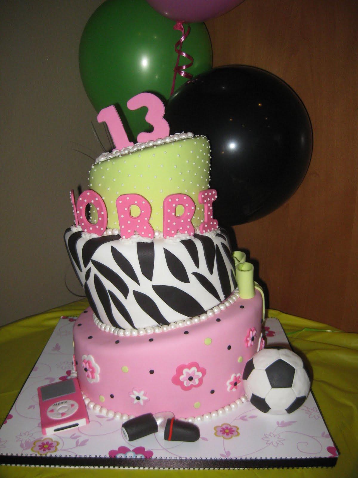 13 Years Old Birthday Cake  Sugar Chef 13TH BIRTHDAY CAKE