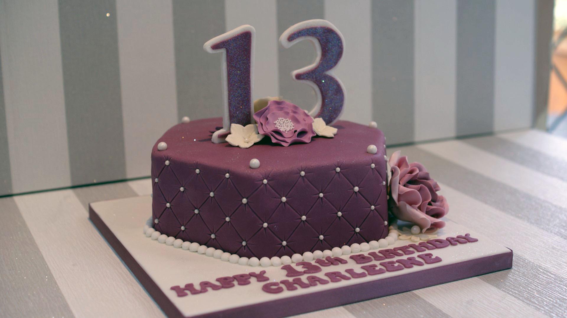 13 Years Old Birthday Cake  Pretty 13th Birthday Cake Bakealous