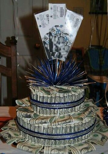 13Th Birthday Gift Ideas  Money cake and NFL tickets for my son s 13th birthday