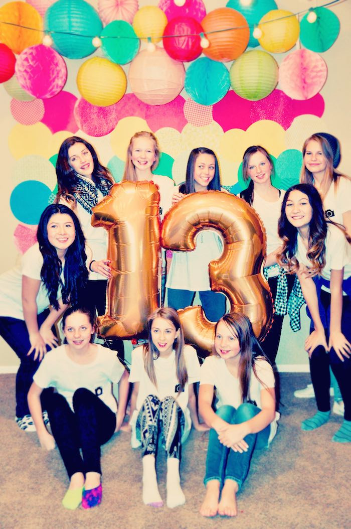 13th Birthday Party  Kara s Party Ideas Glam Instagram Themed 13th Birthday