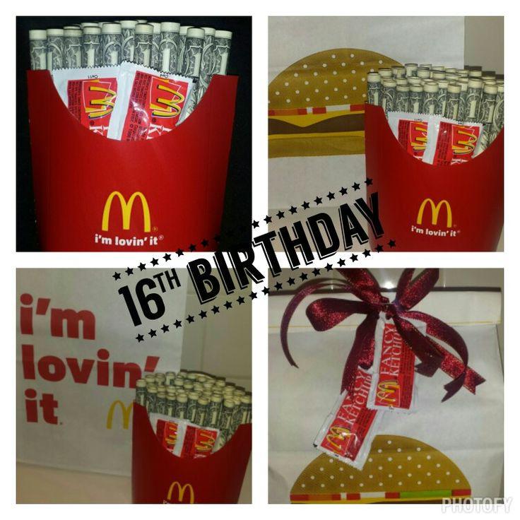 16Th Birthday Gift Ideas For Girls  16th Birthday Gift for a boy $50 cash