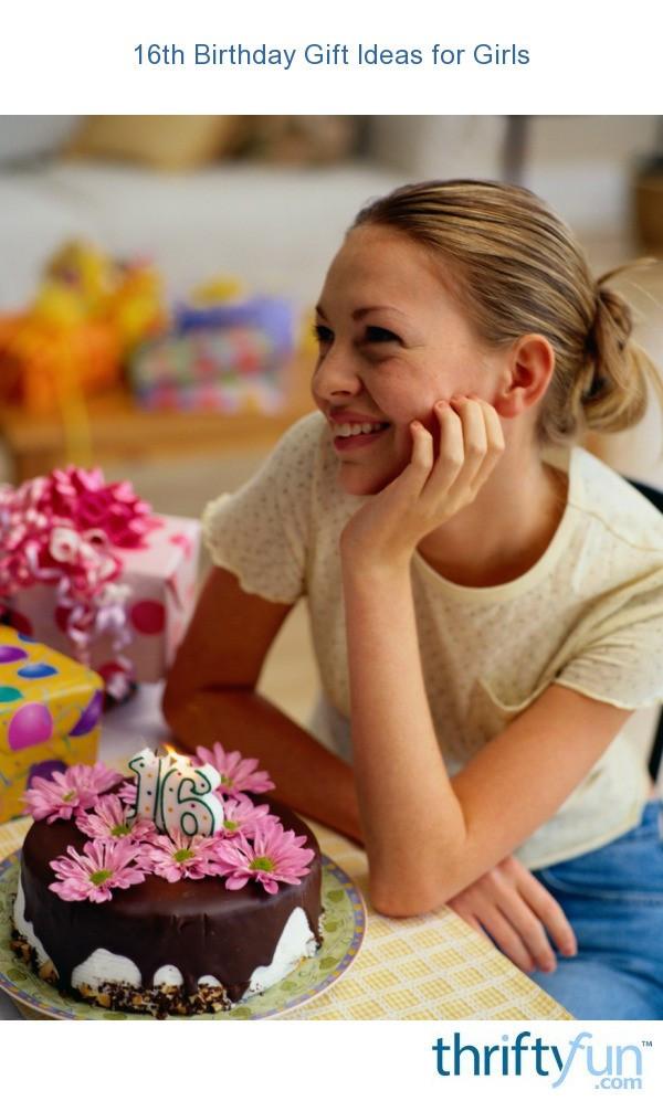 16Th Birthday Gift Ideas For Girls  16th Birthday Gift Ideas for Girls