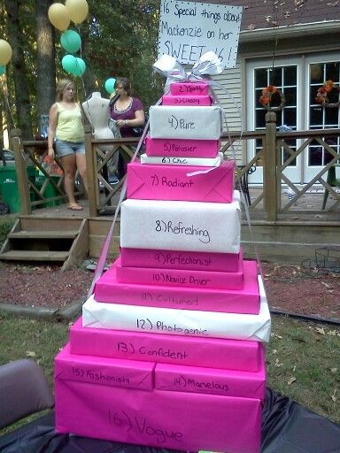 16Th Birthday Gift Ideas For Girls  Sweet 16 t idea Pick 16 words to describe the person