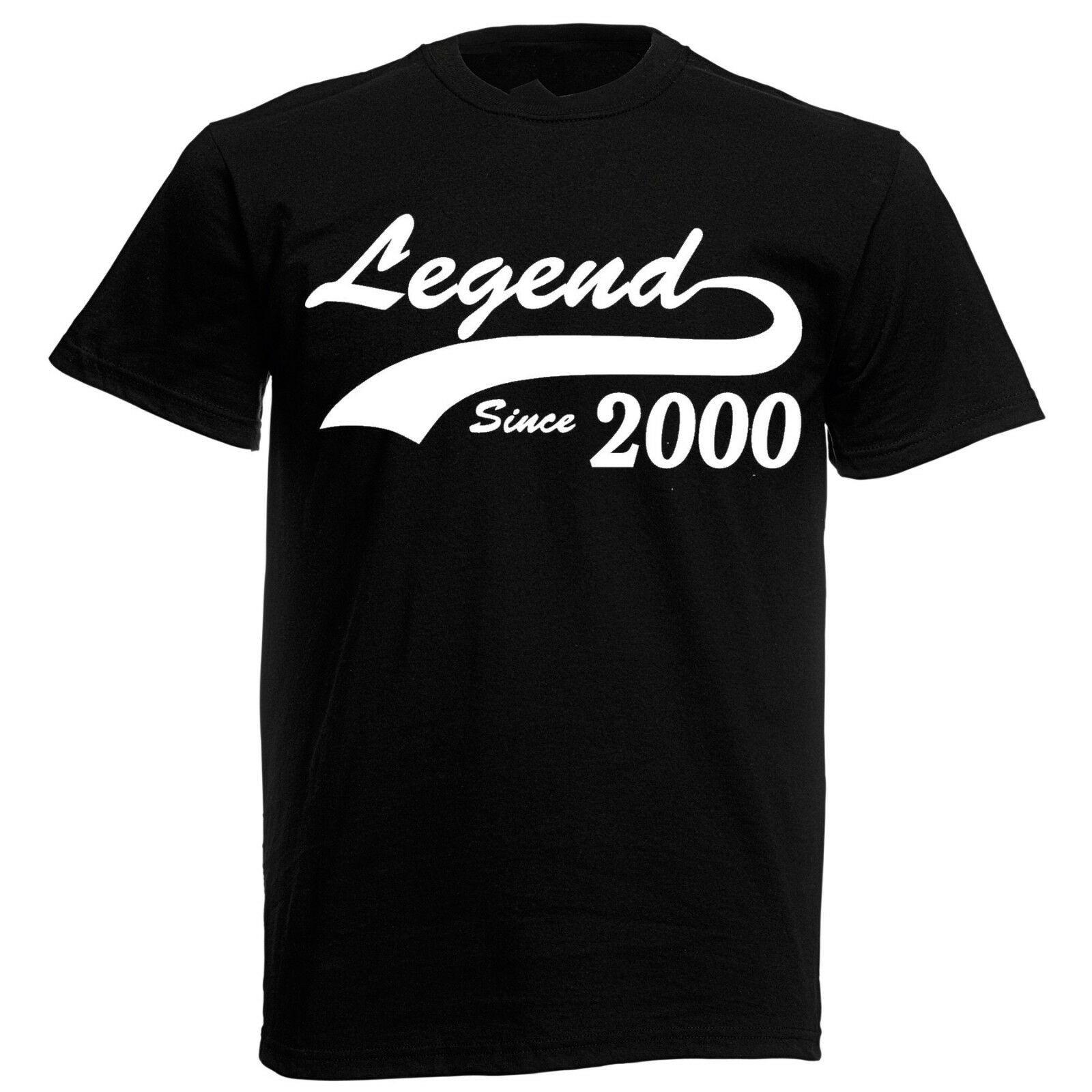 18th Birthday Gifts For Guys  Legend 2000 T Shirt mens 18th birthday ts presents