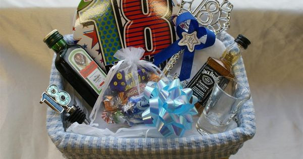 18th Birthday Gifts For Guys  Personalised 18th Birthday Gift Basket for Boys