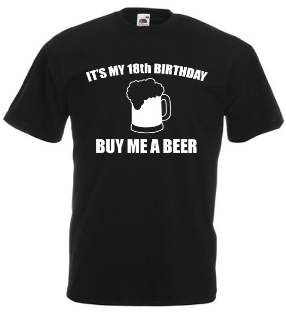 18th Birthday Gifts For Guys  It's My 18th Birthday T Shirt – Funny 18th Birthday Gift