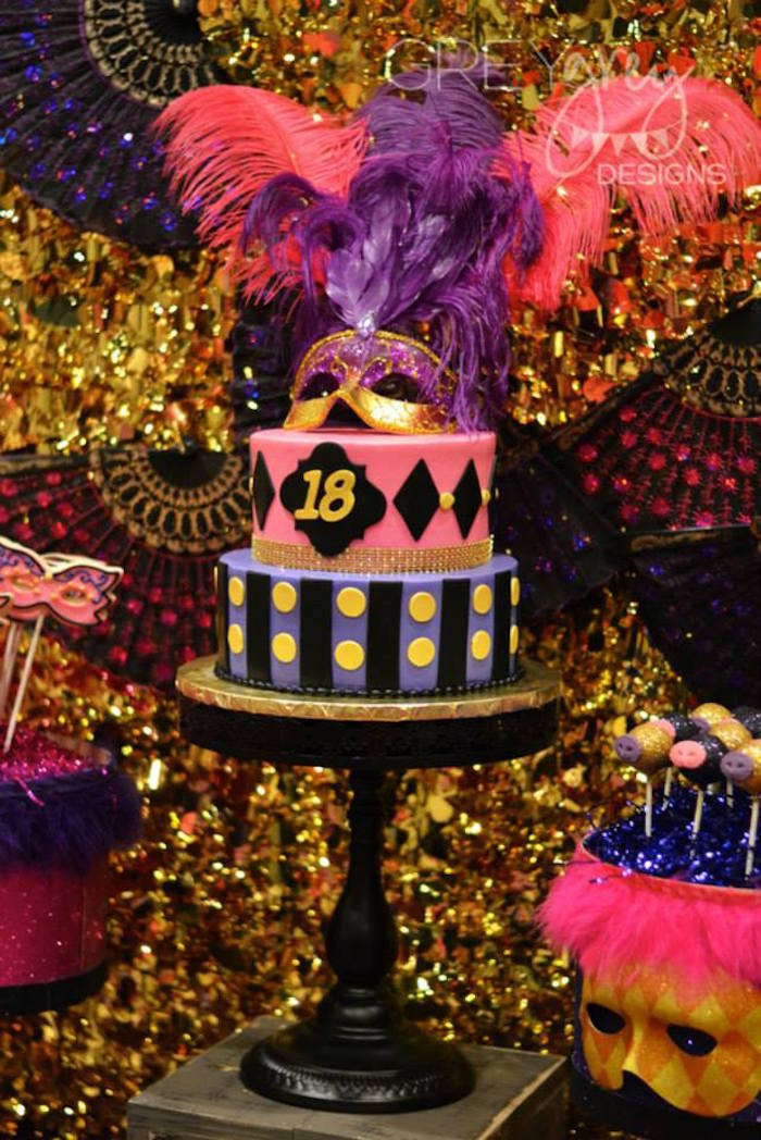 Best ideas about 18th Birthday Party Decorations . Save or Pin Kara s Party Ideas Masquerade 18th Birthday Party via Kara Now.