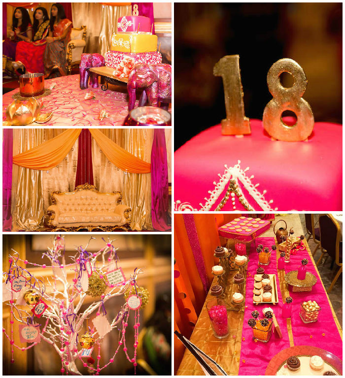 Best ideas about 18th Birthday Party Decorations . Save or Pin Kara s Party Ideas Royal Bollywood Themed 18th Birthday Party Now.
