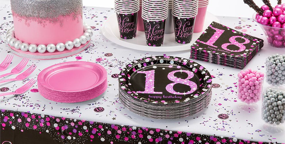 Best ideas about 18th Birthday Party Decorations . Save or Pin Pink Sparkling Celebration 18th Birthday Party Supplies Now.