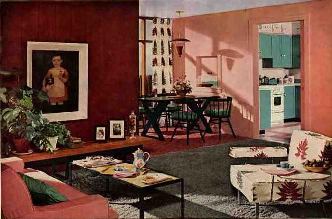 Best ideas about 1950S Living Room . Save or Pin 1950s design Now.