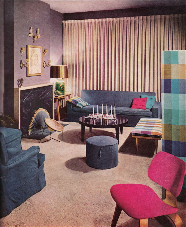Best ideas about 1950S Living Room . Save or Pin 1957 Lavender Living Room Vintage mid century 1950s Now.