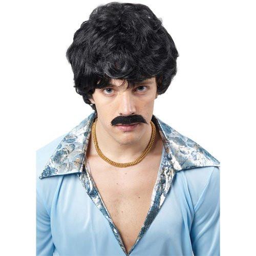 1970'S Mens Hairstyles  70 s Guy Wig 1970 s Mens wig & tash peluca Disfraces