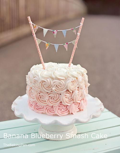 Best ideas about 1st Birthday Smash Cake . Save or Pin Banana Blueberry Smash Cake Recipe Now.