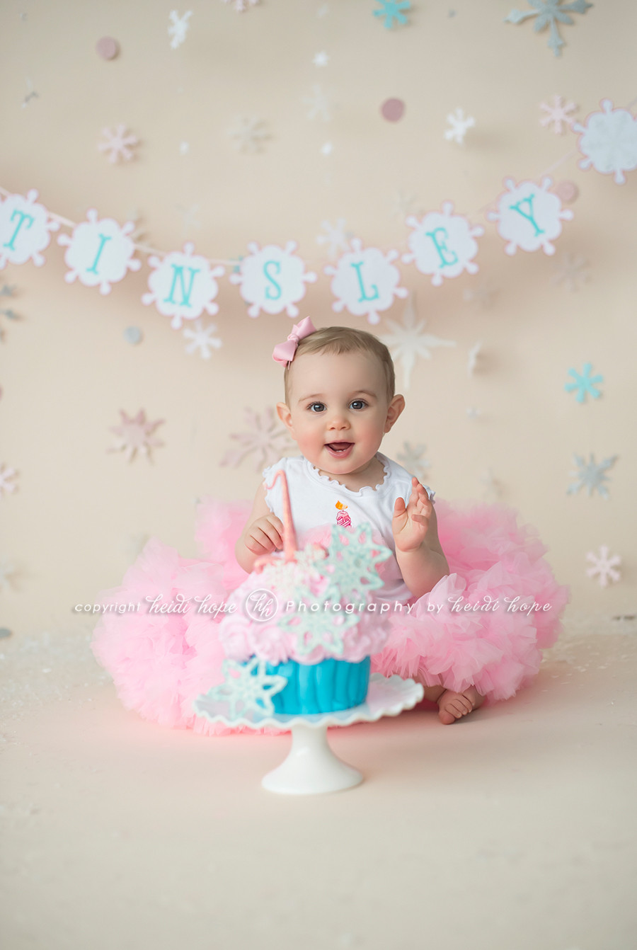 Best ideas about 1st Birthday Smash Cake . Save or Pin A winter wonderland cake smash with first birthday girl T Now.