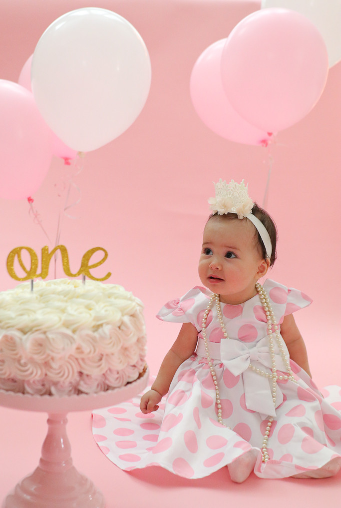 Best ideas about 1st Birthday Smash Cake . Save or Pin First Birthday Cake Smash Party Pink and Gold e Year party Now.