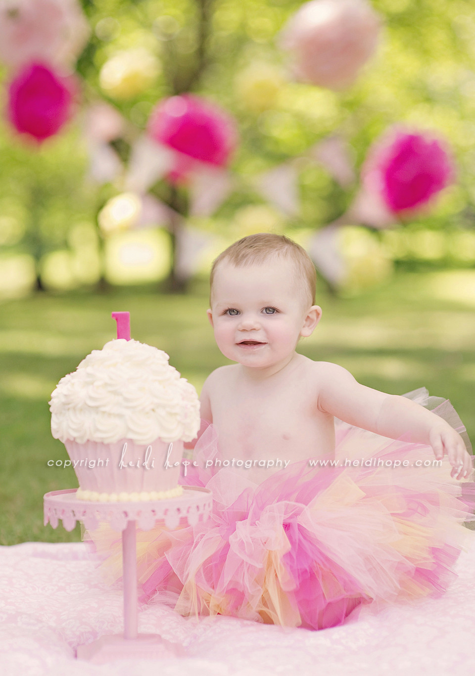 Best ideas about 1st Birthday Smash Cake . Save or Pin Baby K turns 1 year old Rhode Island first birthday cake Now.