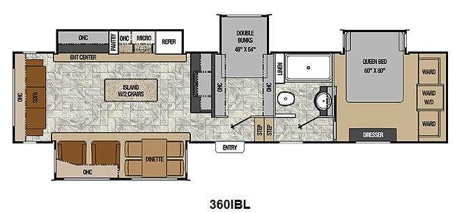 Best ideas about 2 Bedroom 5Th Wheel Floor Plans . Save or Pin 2 Bedroom Floor Plans 5th Wheelsml Now.