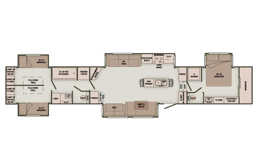 Best ideas about 2 Bedroom 5Th Wheel Floor Plans . Save or Pin bedroom fifth wheel floor plans Quotes Now.