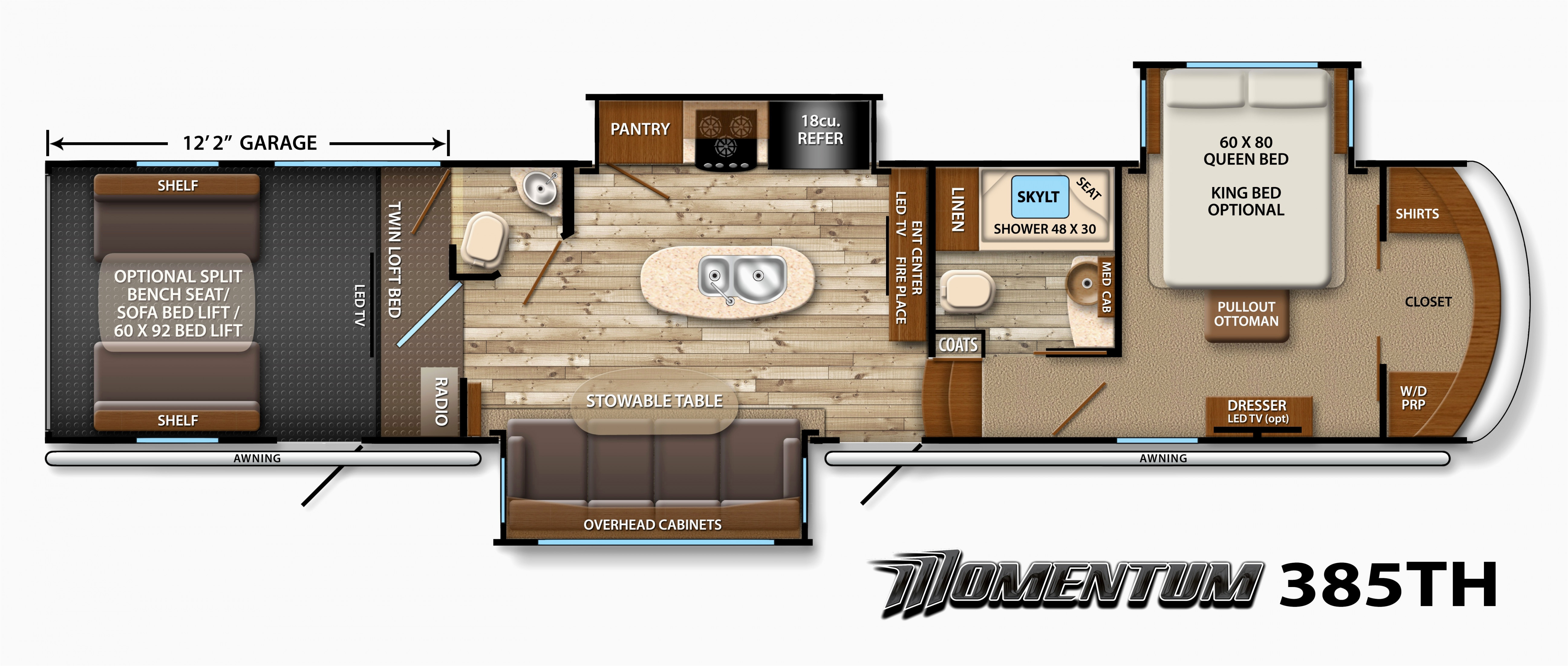 Best ideas about 2 Bedroom 5Th Wheel Floor Plans . Save or Pin Two Bedroom Fifth Wheel Floor Plans • 2018 House Plans Now.