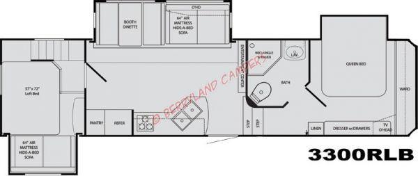 Best ideas about 2 Bedroom 5Th Wheel Floor Plans . Save or Pin Rv Floor Plans Sportsmen Travel Trailer Fifth Wheel Floorplans Now.
