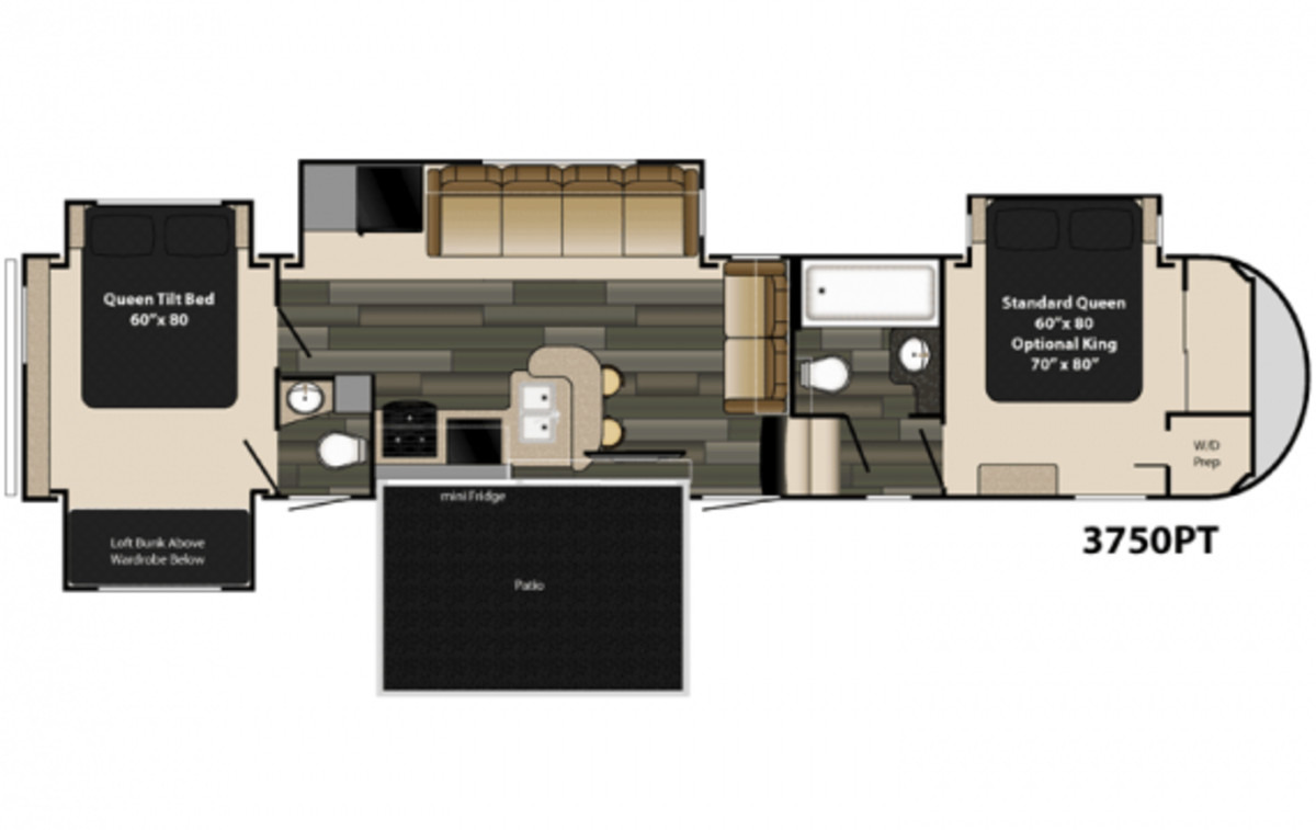 Best ideas about 2 Bedroom 5Th Wheel Floor Plans . Save or Pin Two Bedroom Fifth Wheel Buyloxitane Now.
