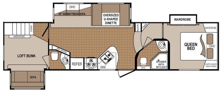 Best ideas about 2 Bedroom 5Th Wheel Floor Plans . Save or Pin 2 bedroom 5th wheel floor plans Google Search Now.