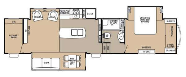 Best ideas about 2 Bedroom 5Th Wheel Floor Plans . Save or Pin Fifth Wheel Camper Floor Plans Lovely Bedroom Ideas Fabulous 2 Now.